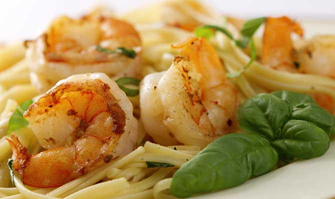 The Terrace Restaurant Prawn Linguini